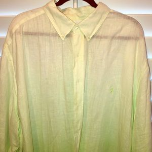 Polo Ralph Lauren linen button down 3XLT